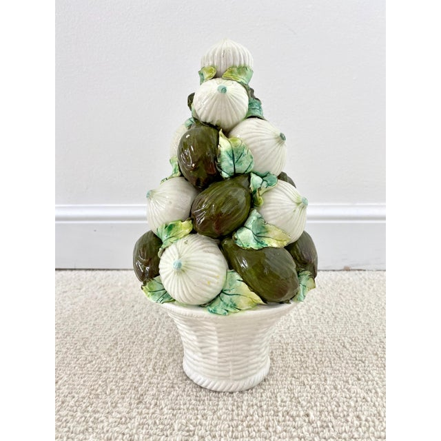 White Vintage Italian Onions and Artichokes Topiary For Sale - Image 8 of 8