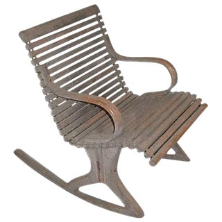 19th Century Antique Bentwood Rocker For Sale