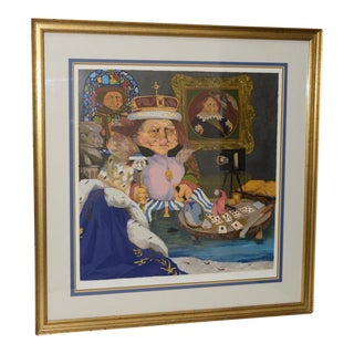 "Charles Bragg ""King of Me's"" Limited Edition Signed Serigraph For Sale"