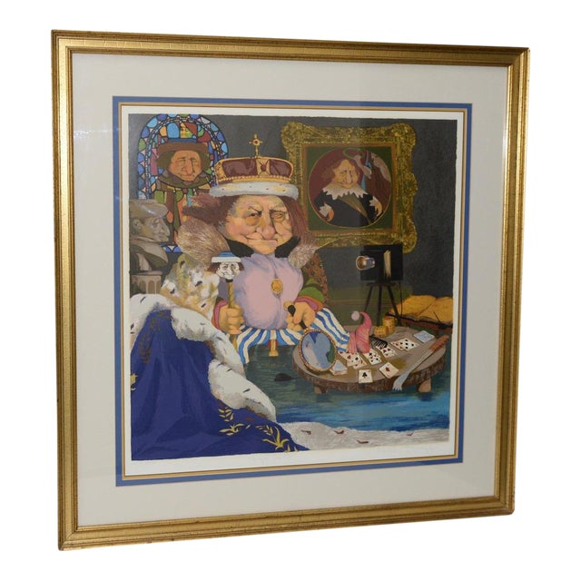 """Charles Bragg """"King of Me's"""" Limited Edition Signed Serigraph For Sale"""