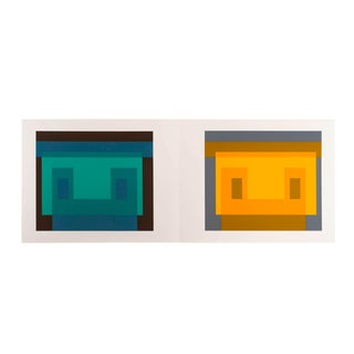 Josef Albers Diptych Silkscreen No. 9 For Sale