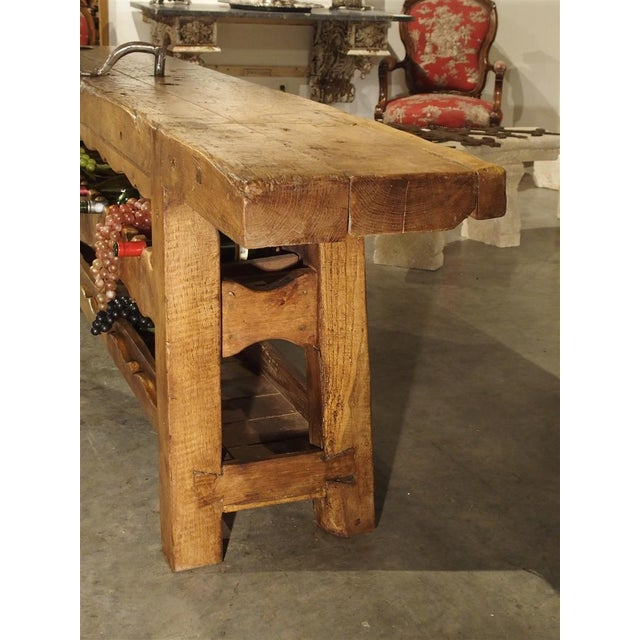 """Antique """"Bourgogne"""" French Wine Carrier Converted From a Workbench For Sale - Image 4 of 13"""
