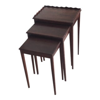 Set of 3 Mersman Mahogany Nesting Tables For Sale