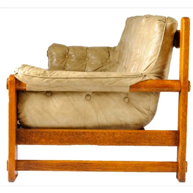 Mid-Century Modern Percival Lafer Style Leather Sofa For Sale - Image 3 of 6