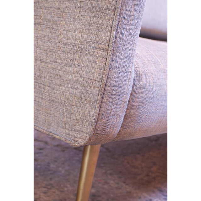 Edward Wormley for Dunbar Sofa With Brass Feet For Sale - Image 11 of 13