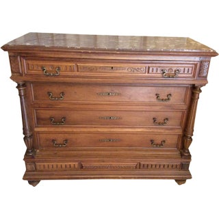 Antique French Henri II Style Walnut Dresser For Sale