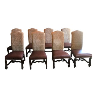 Modern Large Scale Dining Chairs- Set of 8 For Sale