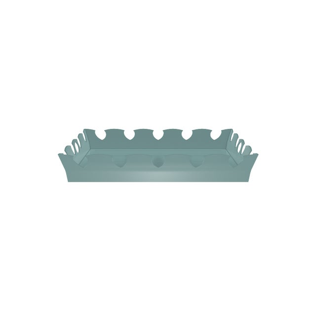 Oomph Ocean Drive Outdoor Tray, Green For Sale In New York - Image 6 of 7