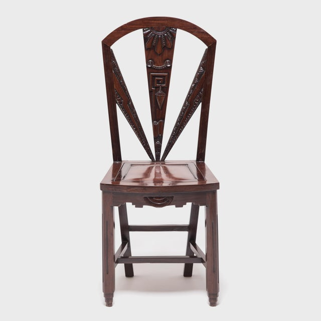 Chinese Art Nouveau Side Chair For Sale - Image 9 of 9