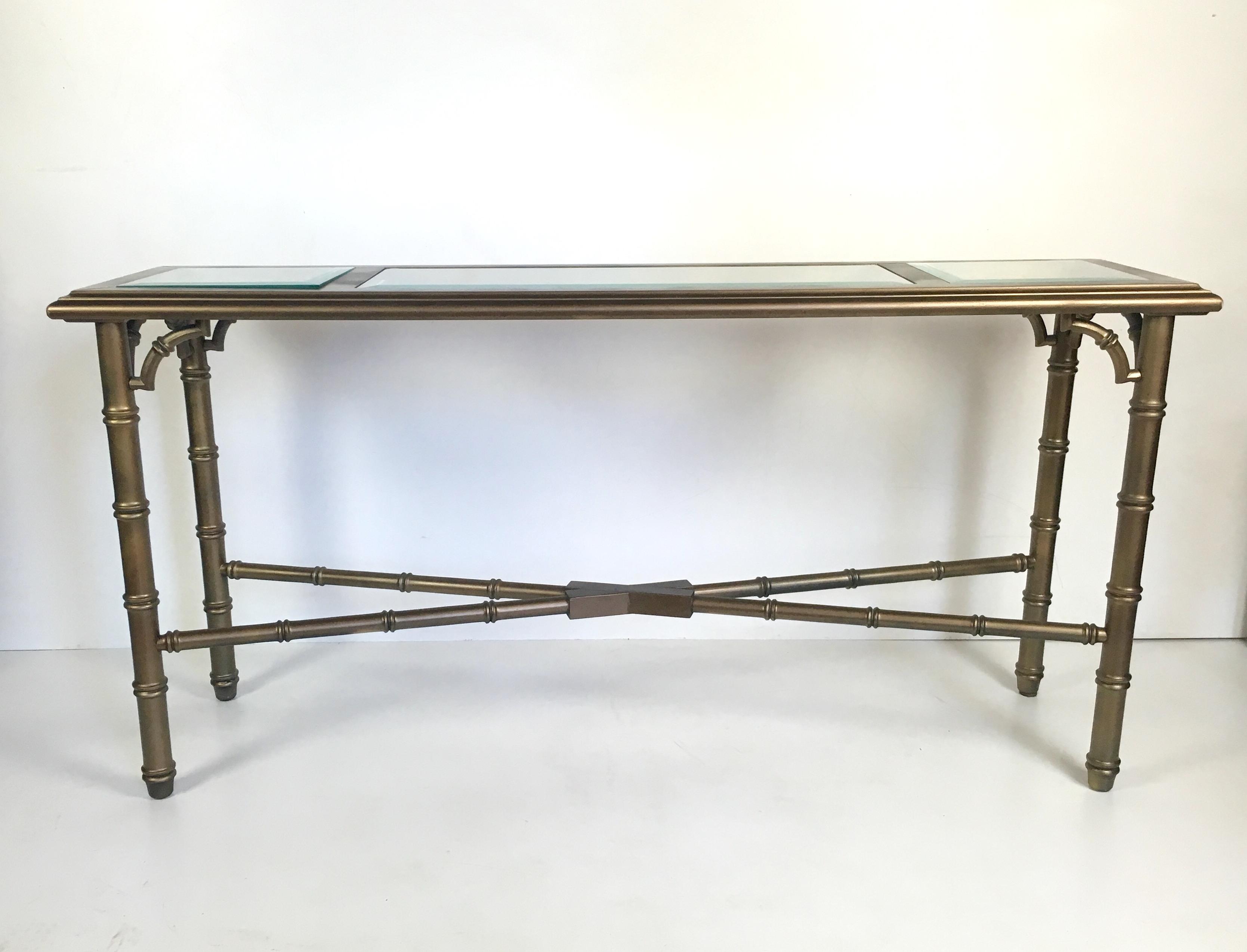 Attirant Lane Faux Bamboo Lacquered Sofa Table   Image 3 Of 6