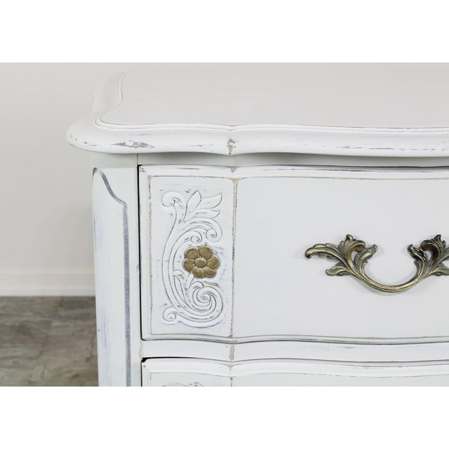 White Vintage White French Provincial Nightstands - a Pair For Sale - Image 8 of 13