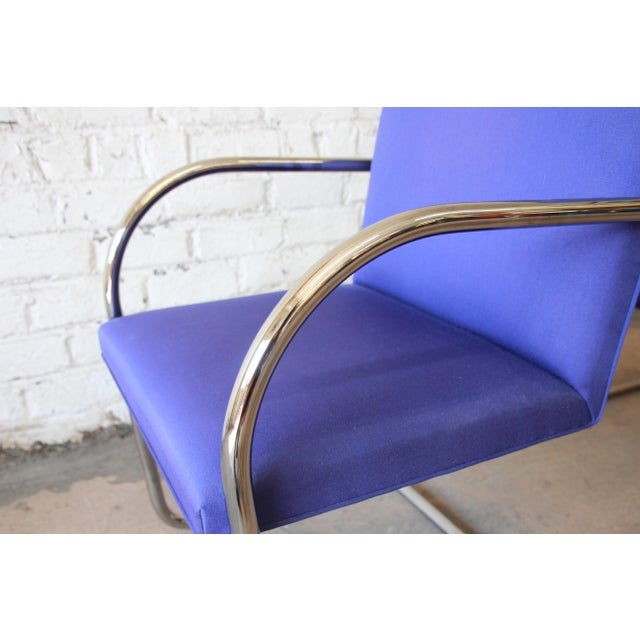 1980s Mies Van Der Rohe for Knoll International Brno Chairs - a Pair For Sale - Image 5 of 11