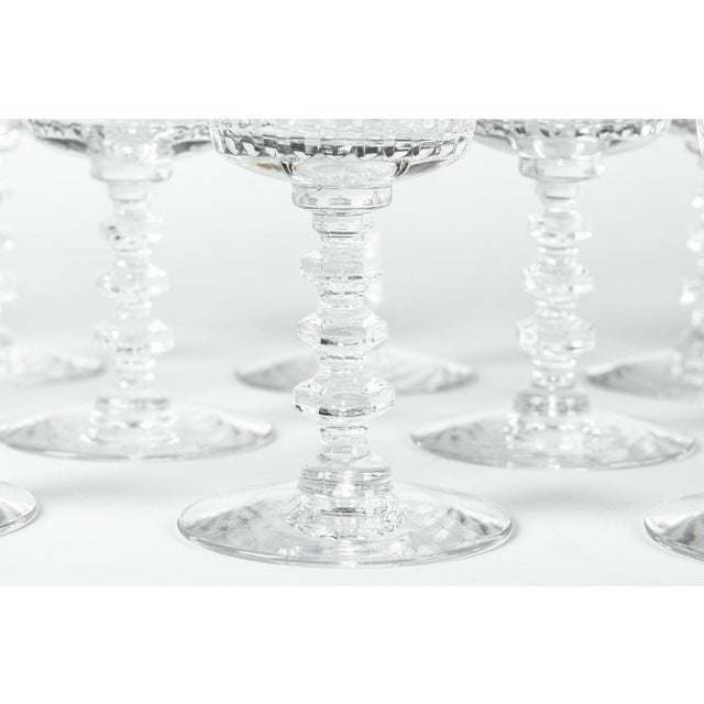 French Vintage Baccarat Decanter & Glassware - Set of 13 For Sale - Image 3 of 13