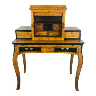Antique Burlewood Desk For Sale