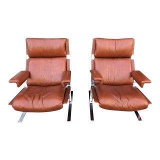 1970s Vintage Richard Hersberger Lounge Chairs for Pace- a Pair For Sale
