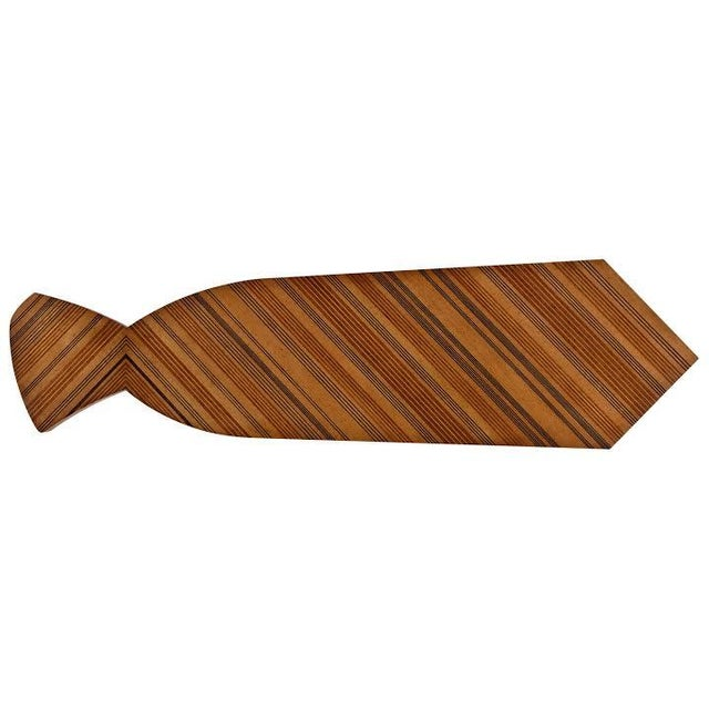 Contemporary Jonathan Charles Inlaid Stripe Necktie Bench Coffee Table Satinwood by Alexander Julian For Sale - Image 3 of 4