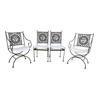 Arthur Umanoff Mid Century Mayan Sun Chairs - Set of 4
