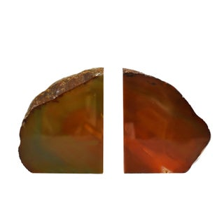 Red Agate Natural Geode Stone Bookends - a Pair Preview