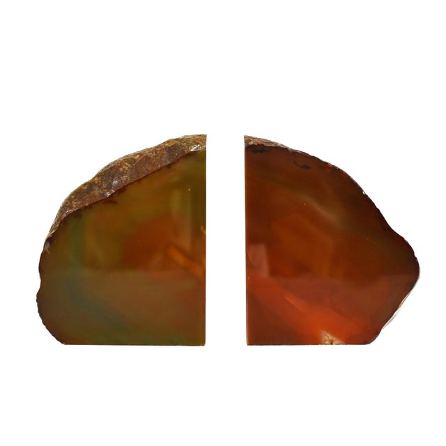 Adorn your decor with a decorative display of natural elements with these beautiful Agate Bookends. The Agate Bookends add...