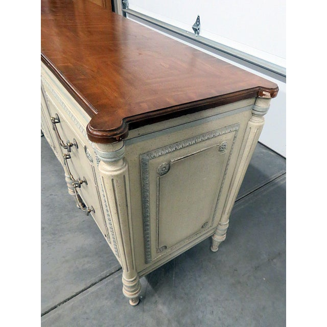 Louis XV Style Fruitwood Top Distressed Painted Sideboard For Sale In Philadelphia - Image 6 of 13