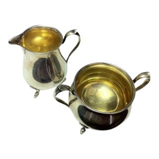 Shreve & Co Sterling Silver Footed Sugar & Creamer For Sale