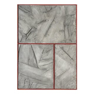 """Pierre Auville """"Grey Graphite"""", Mixed Media For Sale"""