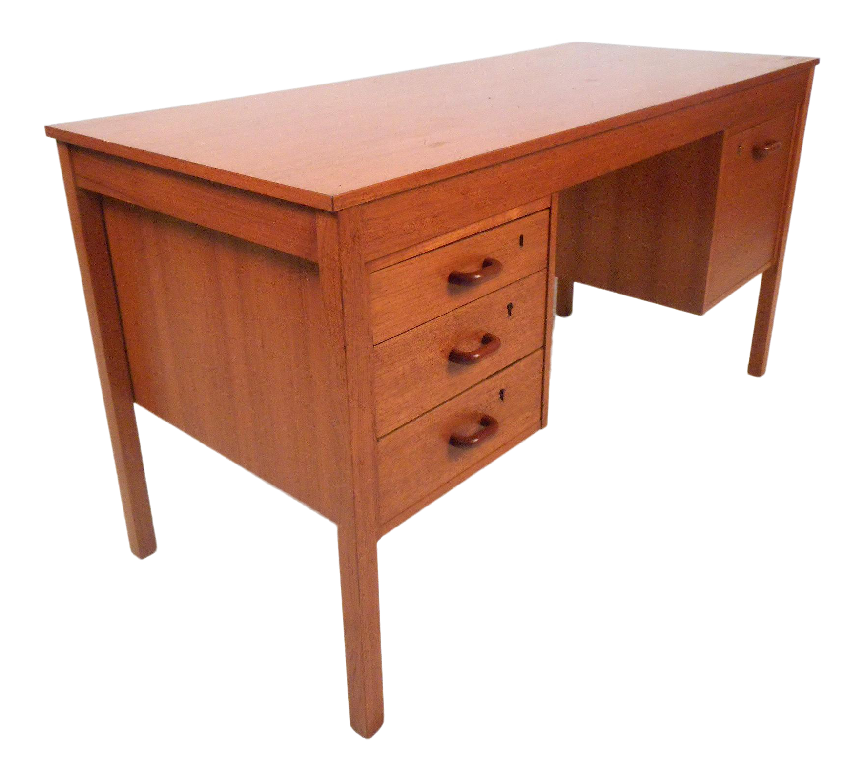 Image of: Danish Modern Teak Desk By Domino Mobler With Finished Back Chairish