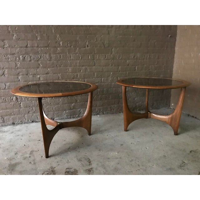 Brown 1950s Mid Century Modern Lane Side Tables - a Pair For Sale - Image 8 of 8