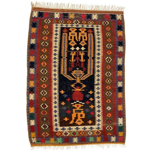 "Anatolian Hand Woven Kilim Rug - 4'6"" X 6'4"" - Image 2 of 2"