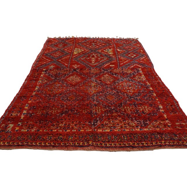 Vintage Berber Red Moroccan Rug 6' x 10'7 - Image 3 of 3