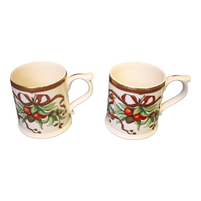 Christmas Mugs by Tiffany & Co - A Pair For Sale