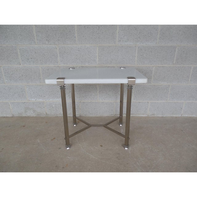 Bernhardt Furniture Designer Modern Style Marble Top Accent Table For Sale - Image 12 of 12