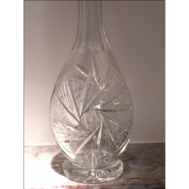 Vintage Etched Crystal Decanter For Sale - Image 4 of 6