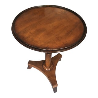 Traditional Baker Pedestal Accent Table For Sale