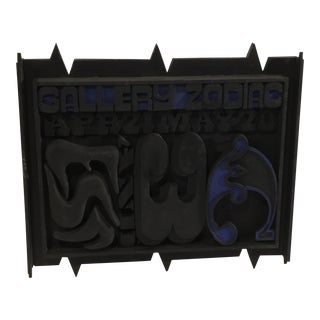 Mid-Century James Spencer Russell Gallery Zodiac Wood Wall Art For Sale