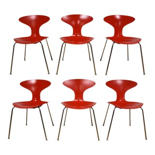 Red Bernhardt Chrome Dining Chairs - Set of 6