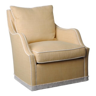 Emma Plinth Base Swivel Chair For Sale