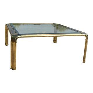 1970s Hollywood Regency John Widdicomb Brass Waterfall Coffee Table For Sale