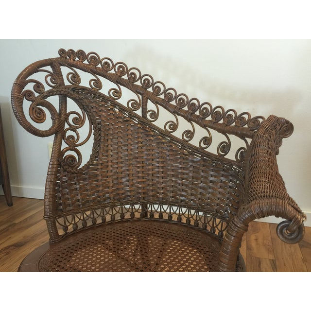 Antique Wicker Photographer's Chairs - A Pair For Sale - Image 9 of 11