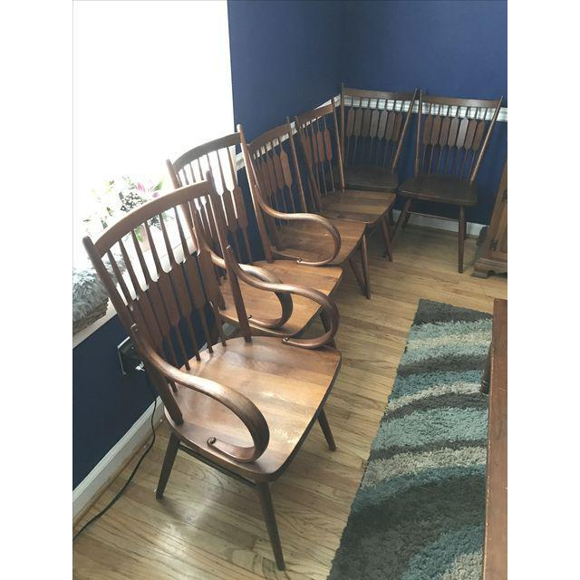 ***Priced to sell - due to relocation*** Stunning set of Bentwood dining chairs by Kipp Stewart for Drexel Declaration....