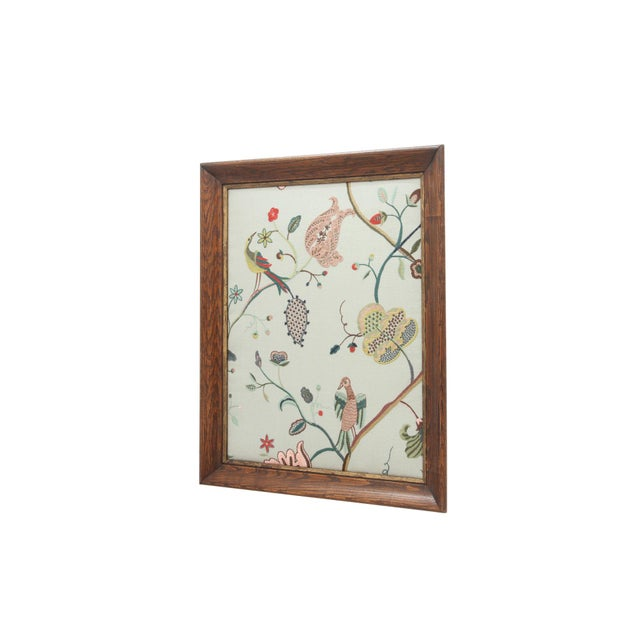 Traditional Margot Sky Embroidered Panel For Sale - Image 3 of 6