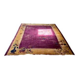 Antique Nichols Chinese Art Deco Rug For Sale