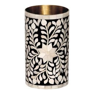 Casa Cosima Maison Flower Vase in Black & White For Sale