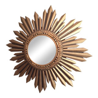 Vintage Sunburst Mirror For Sale