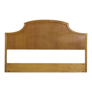 T.H. Robsjohn-Gibbings for Widdicomb Walnut Headboard, Stamped & Dated 1955 For Sale