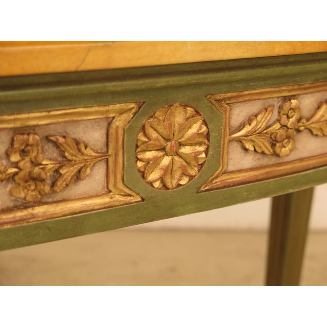 French Louis XVI Style Paint Decorated Console Table For Sale In Philadelphia - Image 6 of 11