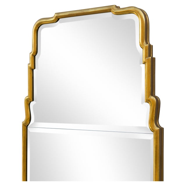 1950s Large Queen Anne Divided Plate Mirror For Sale - Image 5 of 12