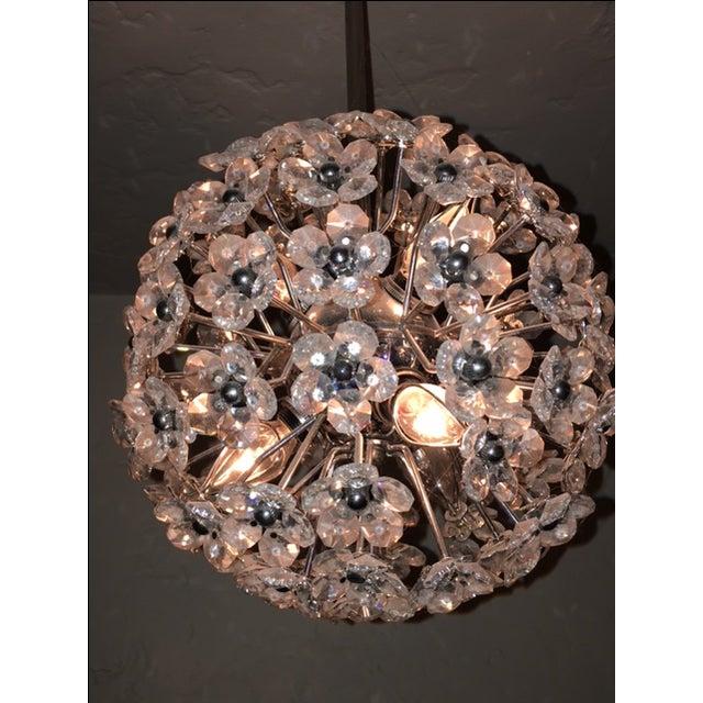 Crystal Flower Sphere Pendant Light - Image 4 of 4