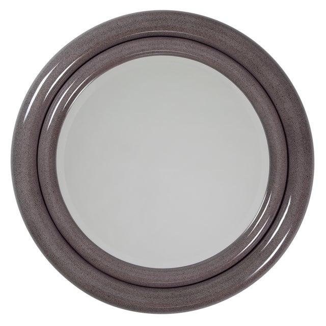 """1980's Vintage Karl Springer """"Double Bullseye"""" Mirror For Sale"""