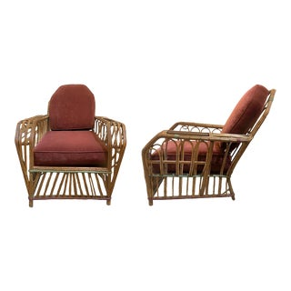 1920s American Split Reed Chairs - a Pair For Sale